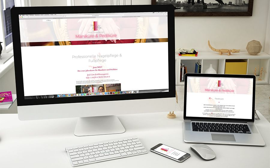 Moni Nageldesign Referenz Webdesign